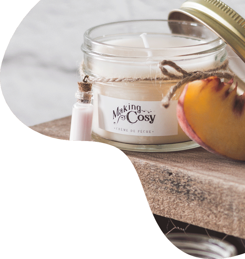 Hand poured scented soy candle with milk and cookies