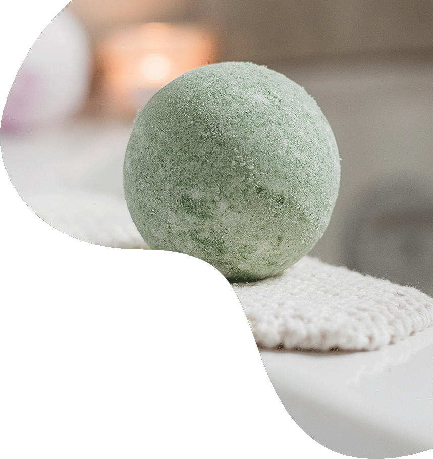 Handmade apple natural bath bomb