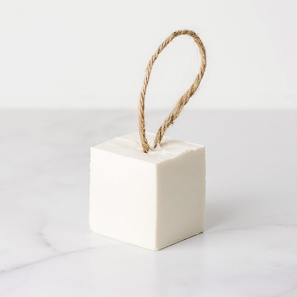 Soft natural natural soap on a rope