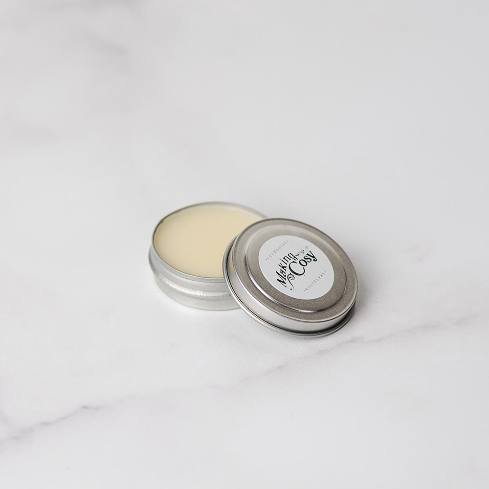 Vegan and natural lip balm for dry lips