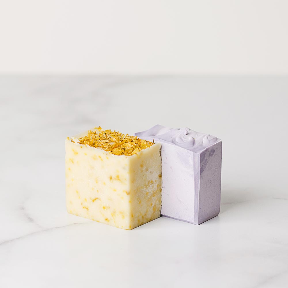 Handmade lavender and fir natural soap